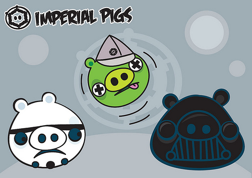 angry imperial pigs