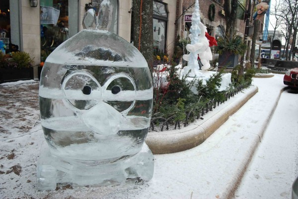 Angry Birds ice sculpture
