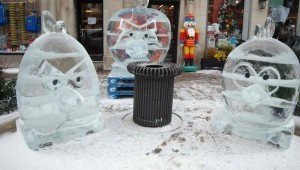 Angry Birds Ice Sculptures