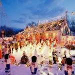 christmas lights scene