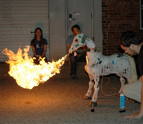 fire breathing animetronic pony