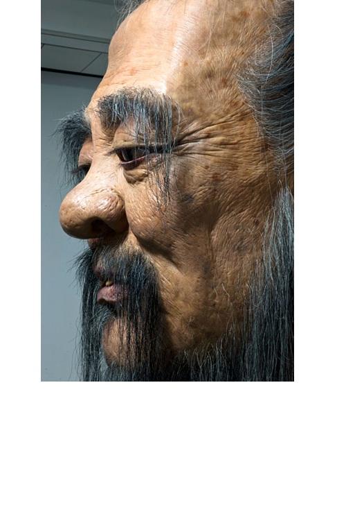 giant confucius bust