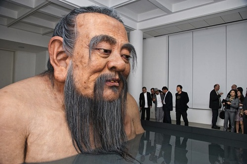 giant confucius bust