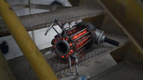 close up gravity gun