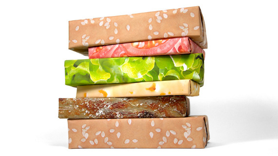 hamburger-wrapping-paper
