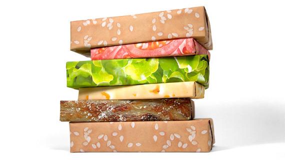hamburger-wrapping-paper