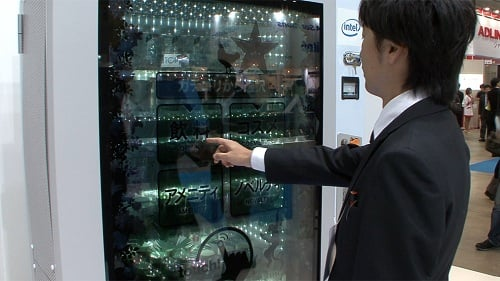 high tech vending machine concept