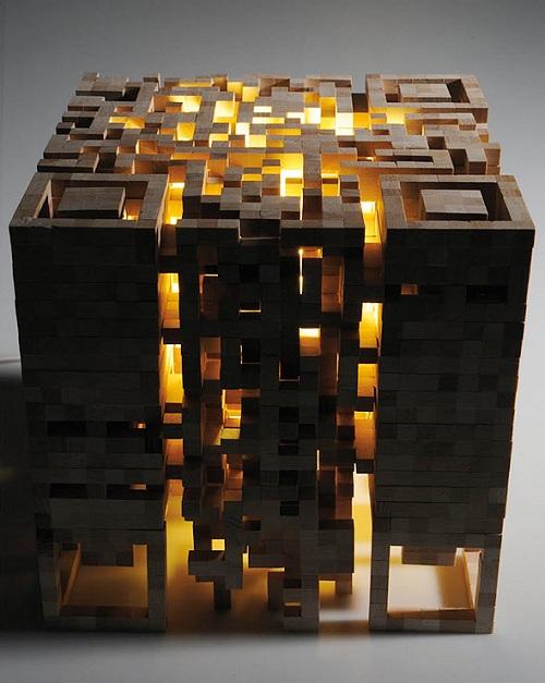 qr 2d light inside glow