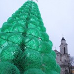 Christmas Tree made out of recycled plastic bottles
