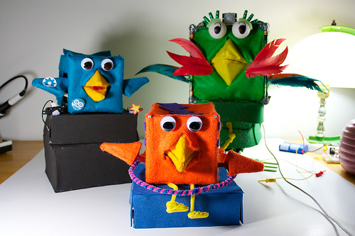 robot angry birds arts