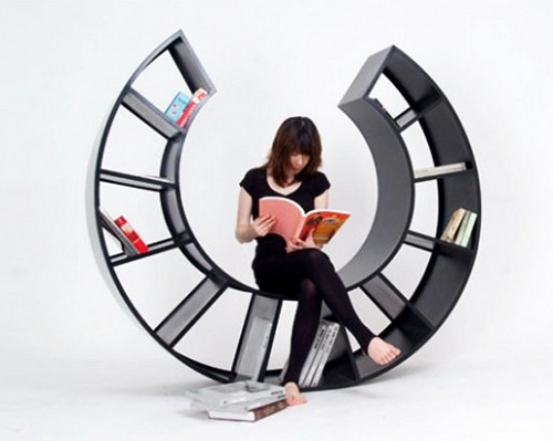 rocking chair book shelf