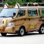 school totoro neko bus