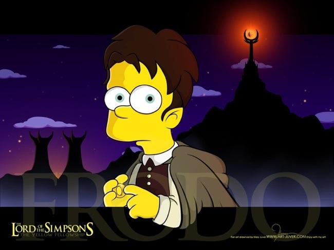 Bart Simpson as Frodo