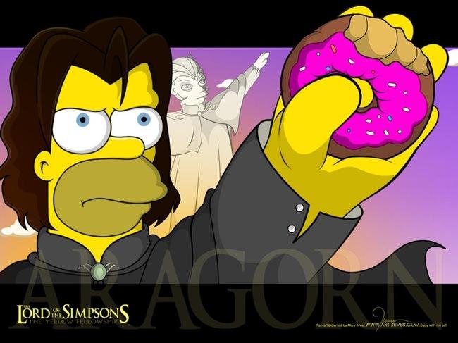 Homer Simpson as Aragorn