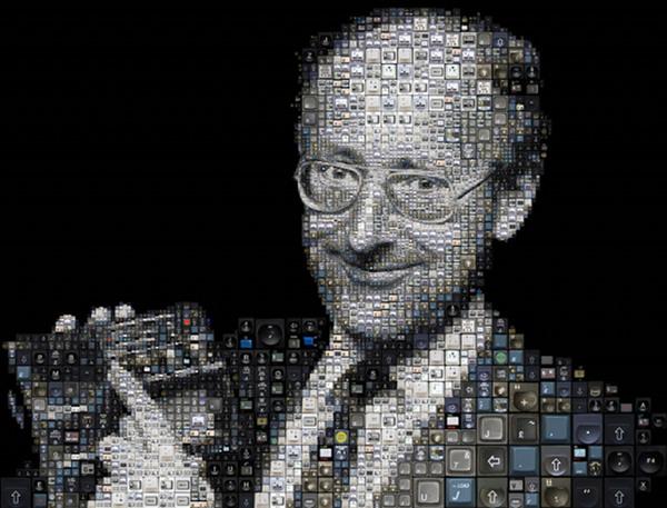 Clive SInclair mosaic