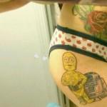 star wars cartoon tattoo