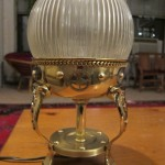 steampunk globe table lamp