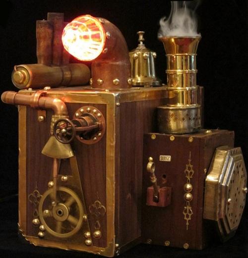 steampunk powered hard drive