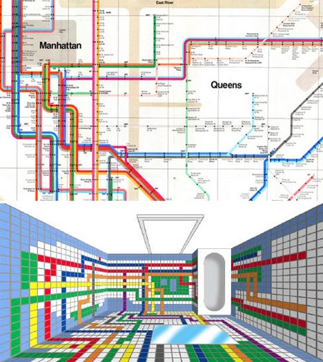 subway bathroom tiles design