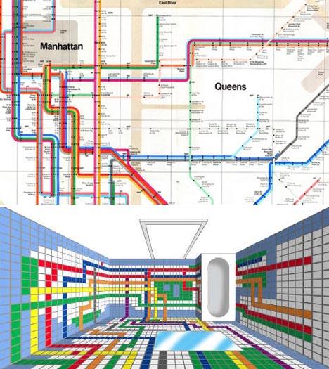 subway washroom tiles concept