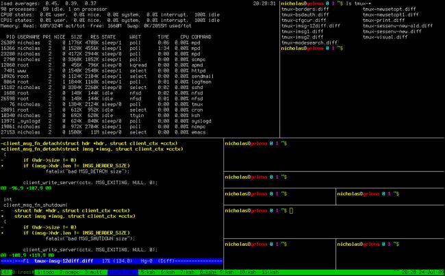 tmux screenshot