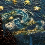 van gogh starry night crackers