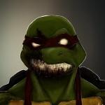 zombie raphael ninja turtle