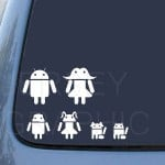 Android Family car sticker