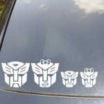 Autobots Family Car Sticker