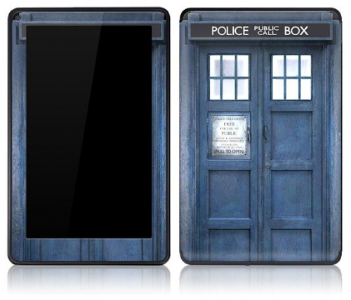 Doctor Who TARDIS skin Kindle Fire Image