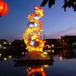 Dragon float in china