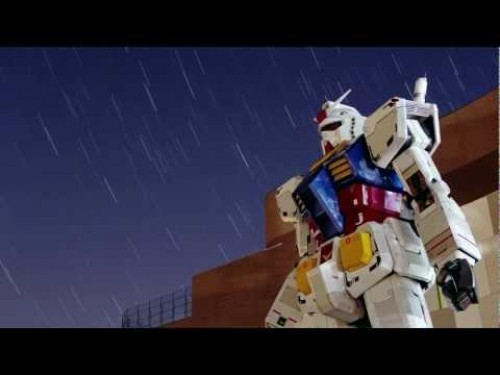 Gundam Statue At Night Sky Image