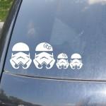 Stormtrooper Family Car Sticker