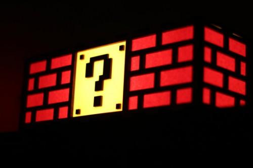 Super Mario Question Block Lamp Image