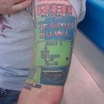 Tecmo Bowl Tattoo