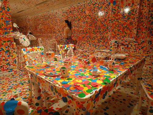 Yayoi Kusama's 'The obliteration room' Image