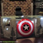 captain america desk avengers
