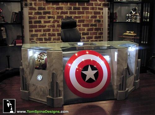 captain america desk avengers