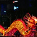 beautiful chinese dragon at night