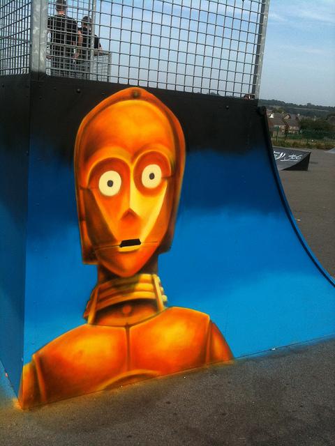 C-3PO skate park mural