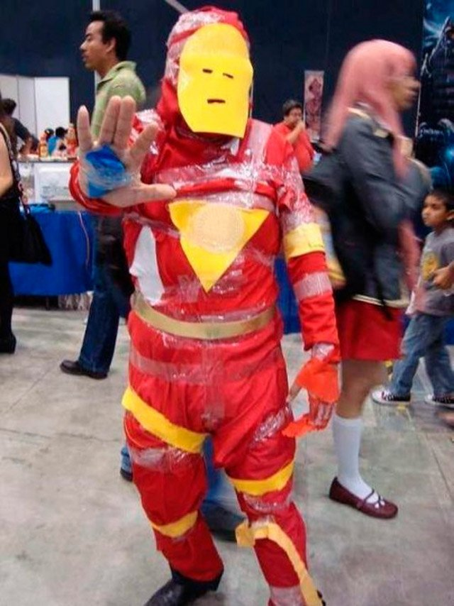 cheapo iron man cosplay