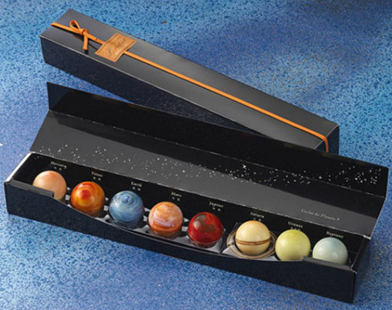 Box of chocolate planets