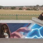 Count Dooku skate park mural