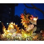 dragon float on parade