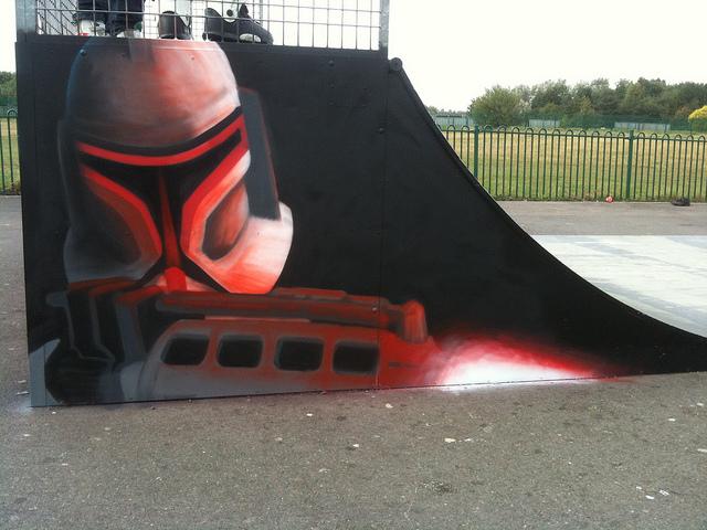 Boba Fett skate park mural