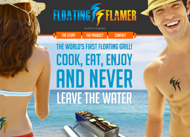Floating Flamer website