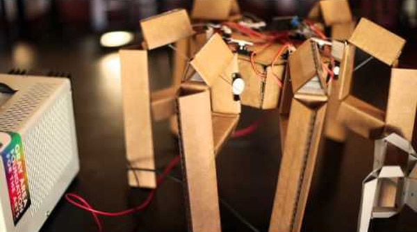 Cardboard hexapod robot