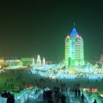 Ice sculpture building in Harbin China