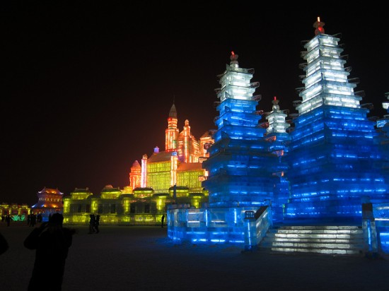 Ice Sculpture Castle