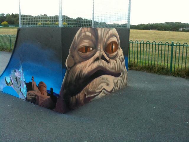 Jabba the Hut skate park mural